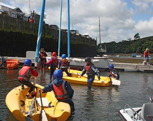 learning sailing skills Cornwall